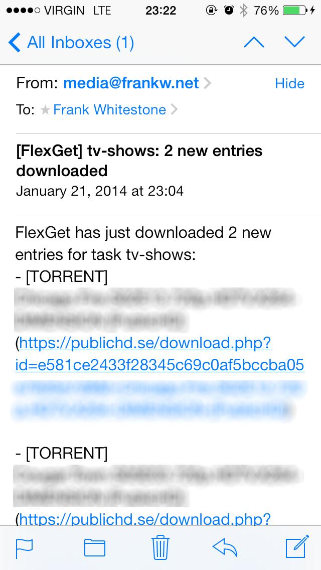 New show e-mail