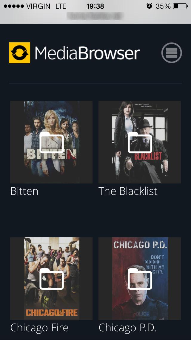 Serviio iPhone TV List