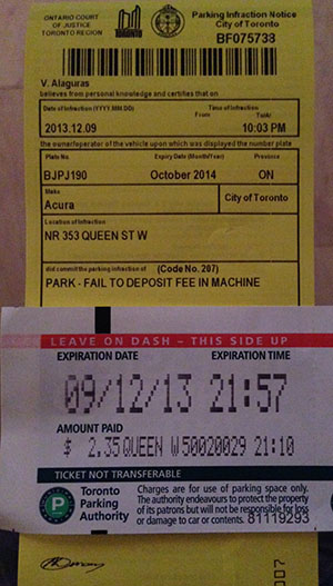 Toronto Parking Ticket