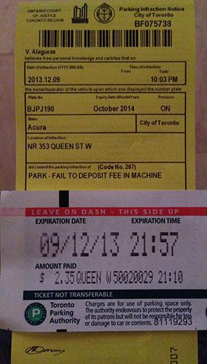 Toronto Parking Ticket